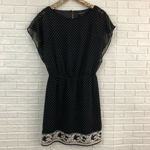 White House Black Marke paisley hem blouson dress